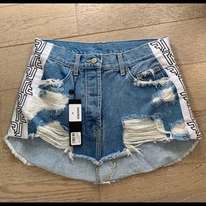 LF  skirt denim